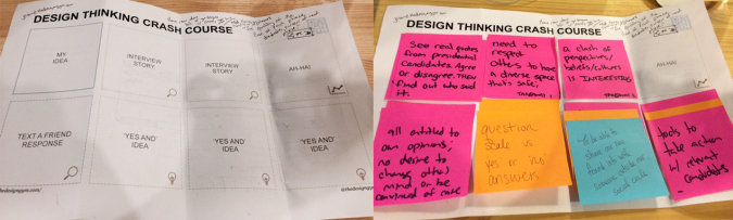 Design Thinking Crash Course worksheets
